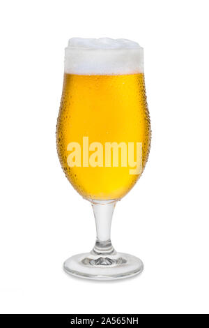 Full Belgium Ale with Condensation and Foam Head #2. - Stock Photo