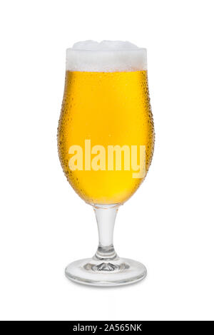 Full Belgium Ale with Condensation and Foam Head #3. - Stock Photo