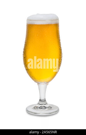 Full Belgium Ale with Condensation and Foam Head #4. - Stock Photo