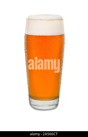 Sweated Craft Pub Beer Glass #3. - Stock Photo