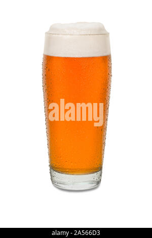 Sweated Craft Pub Beer Glass #5. - Stock Photo
