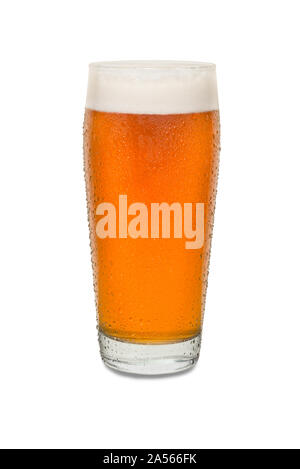 Sweated Craft Pub Beer Glass #7. - Stock Photo