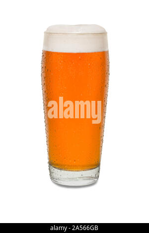 Sweated Craft Pub Beer Glass #9. - Stock Photo