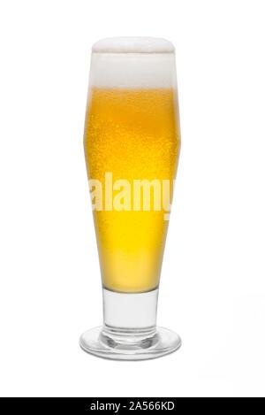Classic Pilsner Beer, with Foam Head #1. - Stock Photo