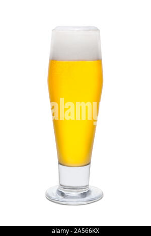 Classic Pilsner Beer with Foam Head #3. - Stock Photo