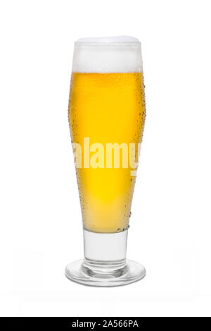 Classic Pilsner Beer with Condensation, with Foam Head #5. - Stock Photo