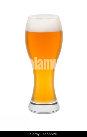 Isolated Wheat Beer, with Foam top #1. - Stock Photo