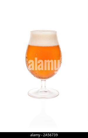Tulip Glass With Belgium Beer. - Stock Photo