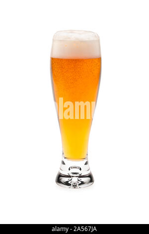 Glass Beer With Foam Top. - Stock Photo
