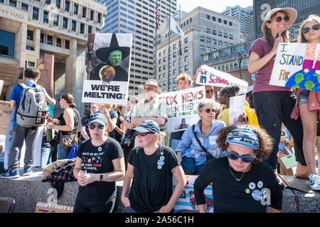 Massachusetts Youth Climate Strike - Stock Photo