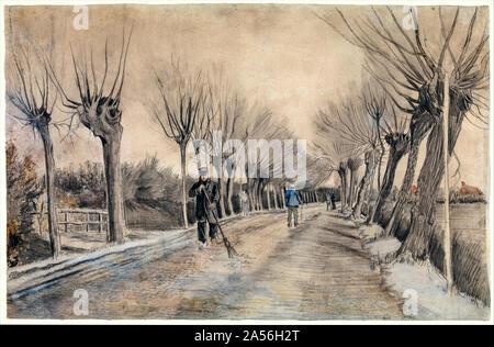 Vincent van Gogh, Road in Etten, drawing, 1881 - Stock Photo