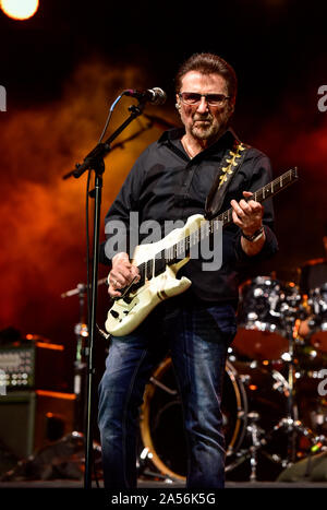July 4, 2019, Moapa Nevada, Buck Dharma of Blue Oyster Cult on stage at the Moapa Event Center In Moapa, Nevada. - Stock Photo