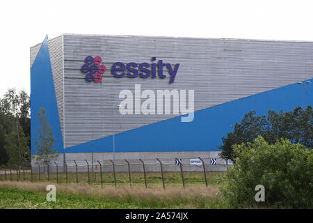 Essity in Lilla Edet. Essity Company is a global hygiene and health company.Photo Jeppe Gustafsson - Stock Photo