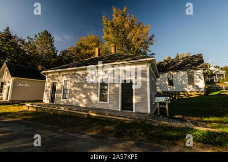 Albert County Museum _ Hopewell Cape, New Brunswick, CA - Stock Photo