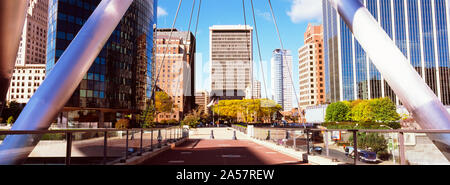 Mortensen Riverfront Plaza at downtown, Hartford, Connecticut, USA - Stock Photo