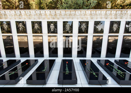 Martyrs' Alley. Sahidlar Xiyabani, a memorial dedicated to those killed by the Soviet Army during the Black January (1990) and during the Nagorno-Kara - Stock Photo