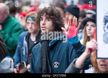Extinction Rebellion - Red Handed Demonstration - Stock Photo