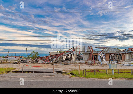 Panama City, Florida USA 10/16/2019. Businesses on industrial drive were destroyed by hurricane Michael. One year later this is what it looks like. - Stock Photo