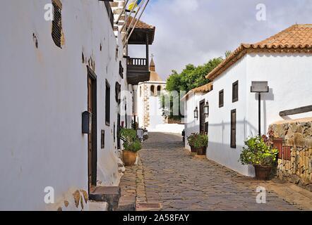 Historical road in the village of Betancuria on Fuerteventura - Stock Photo