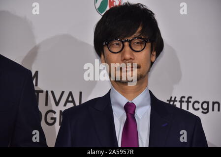 Cologne, Germany. 15th Oct, 2019. the Japanese games developer Hideo Kojima comes to the Film Festival Cologne Awards, the highlight of the international film and television festival. Credit: Horst Galuschka/dpa/Alamy Live News - Stock Photo