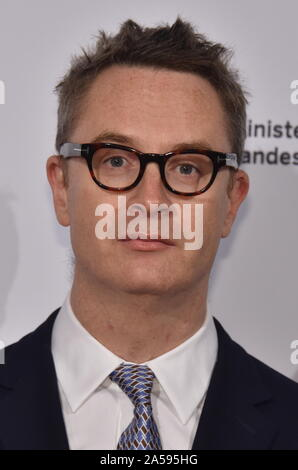 Cologne, Germany. 15th Oct, 2019. Danish director Nicolas Winding Refn comes to the Film Festival Cologne Awards, the highlight of the international film and television festival. Credit: Horst Galuschka/dpa/Alamy Live News - Stock Photo