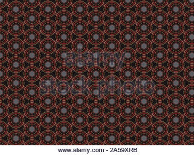 woven grey cotton line material fabric gray red black craft background brown red yellow - Stock Photo