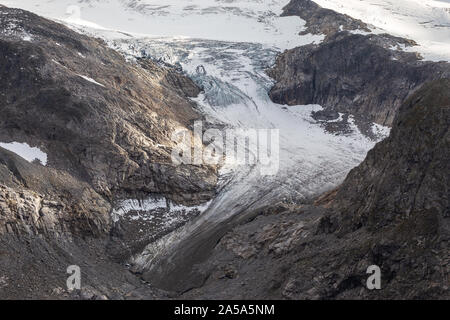 Obersulzbach Kees glaciers of the Venediger mountain group. Obersulzbachtal. Hohe Tauern National Park. Austrian Alps. - Stock Photo