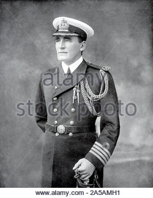 Admiral of the Fleet Sir Reginald Yorke Tyrwhitt, 1st Baronet, 1870 – 1951, was a British Royal Navy officer, vintage photograph from early 1900s - Stock Photo