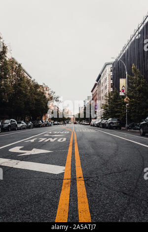 Center of a street of New York - Stock Photo