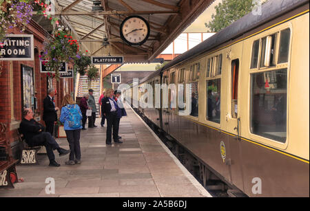 Toddington Railway Station in the Cotswolds in Gloucestershire, England - Stock Photo