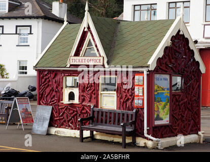 Manx Electric Railway ticket office at Douglas,  Isle of Man, UK - Stock Photo