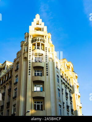 The art deco Union Building, built in 1928-29 as a hotel, was renovated in 1999 and is now a business center in downtown Bucharest, Romania, 2019 - Stock Photo