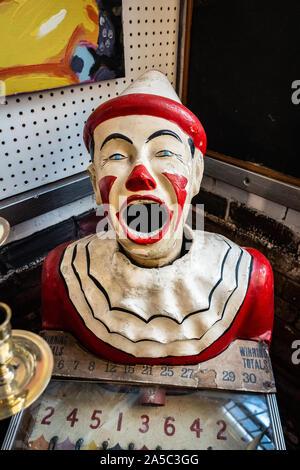 Clown model shouting - Stock Photo