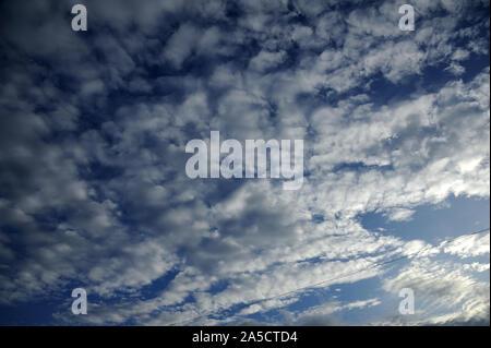 Munnar; Kerala; India; Southeast Asia Nov. 2017 : Altocumulus is a middle-altitude clouds - Stock Photo