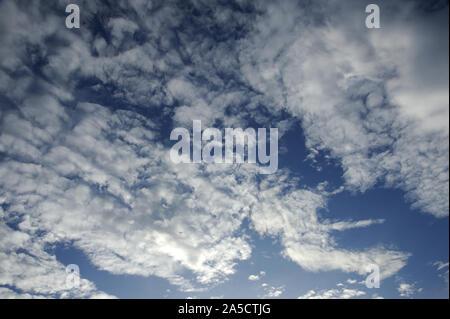 Munnar; Kerala; India; Southeast Asia;; Nov. 2017 : Altocumulus is a middle-altitude clouds - Stock Photo