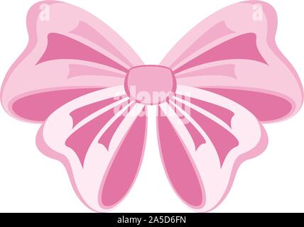 Elegant vector pink bows for greeting cards - Stock Photo