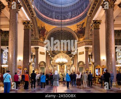 St. Petersburg Russia. Kazan Cathedral, is acathedralof theRussian Orthodox Churchon theNevsky ProspektinSaint Petersburg. It is dedicated toO - Stock Photo