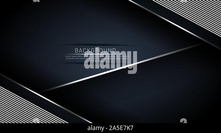 Dark blue background that overlaps with a line. Vector illustration in EPS 10 - Stock Photo