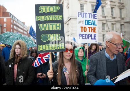 People's Vote March - 19.10.19 - Stock Photo