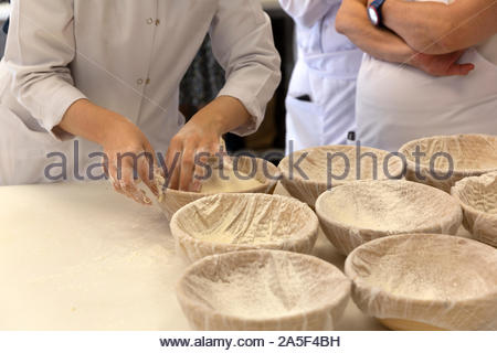 sour sourdough artisan bread dough - Stock Photo