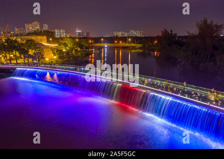 Anh Sao or Starlight Bridge is a pedestrian bridge with  waterfall and beautiful colored lighting on the Saigon River. It is a tourist attraction
