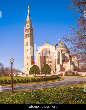 Basilica of the National Shrine of the Immaculate Conception. Washington, D.C. USA - Stock Photo
