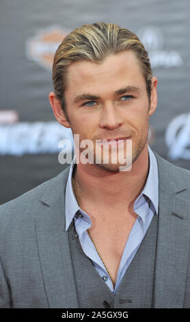LOS ANGELES, CA. April 11, 2012: Chris Hemsworth at the world premiere of his new movie 'Marvel's The Avengers' at the El Capitan Theatre, Hollywood. © 2012 Paul Smith / Featureflash - Stock Photo