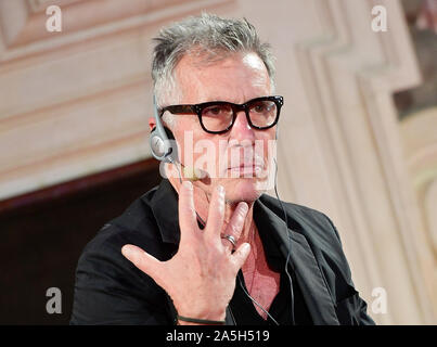 Prague, Czech Republic. 18th Oct, 2019. American author Michael Cunningham debates during a gala evening at Writers' Festival Prague, Czech Republic, on October 18, 2019. Credit: Roman Vondrous/CTK Photo/Alamy Live News - Stock Photo