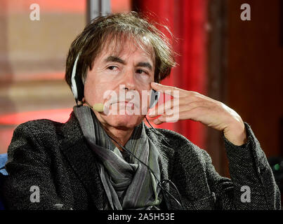 Prague, Czech Republic. 18th Oct, 2019. French philosopher Francois Jullien debates during a gala evening at Writers' Festival Prague, Czech Republic, on October 18, 2019. Credit: Roman Vondrous/CTK Photo/Alamy Live News - Stock Photo