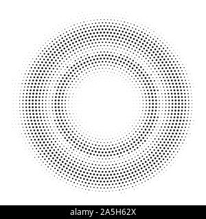 Halftone double circle frame. Vector template - Stock Photo