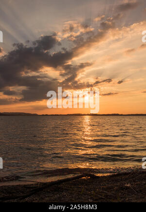 Lake Chiemsee in Germany - Stock Photo