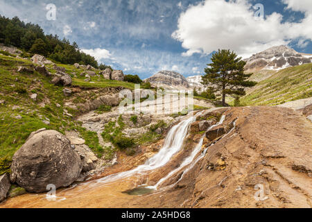 Gorge of Iguer and LLanos de Napazal, Aisa Valley in La Jacetania, Huesca, Spain - Stock Photo