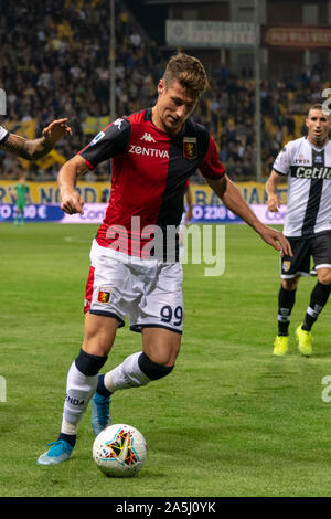 Andrea Pinamonti (Genoa) during the Italian 'Serie A' match between Parma 5-1 Genoa at Ennio Tardini Stadium on October 20, 2019 in Parma, Italy. Credit: Maurizio Borsari/AFLO/Alamy Live News - Stock Photo
