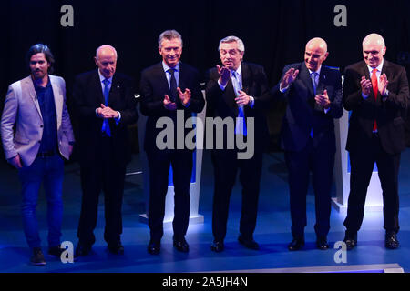 BUENOS AIRES, 20.10.2019: All candidates after the second presidential debate in University of Buenos Aires, Argentina. (Photo: Néstor J. Beremblum / - Stock Photo